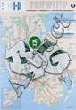 POEM ONE () BIG Pochoir, peinture aérosol et marqueur sur plan de métro de New York (MTA)