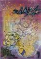 Bill BLAST (William Cornero dit) (né en 1964) THE SEVEN YEARS ITCH, 2012 Peinture aérosol et marqueur sur plan de métro de New York...