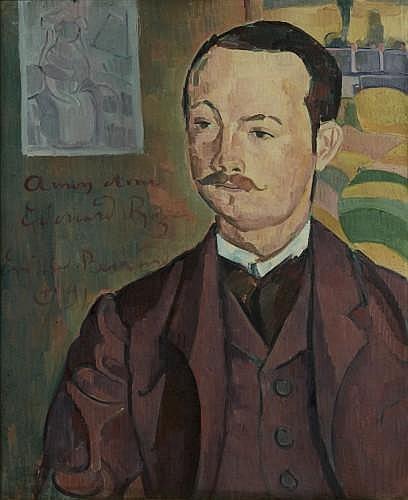 ¤Emile BERNARD (Lille, 1868 - Paris, 1941) PORTRAIT D'EDOUARD ROZE Huile sur toile