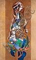 Hélène d'Oettingen dite François ANGIBOULT (1887-1950) HOMMAGE A HEINE ET A SCHUMANN Huile sur toile, François Angiboult, Click for value