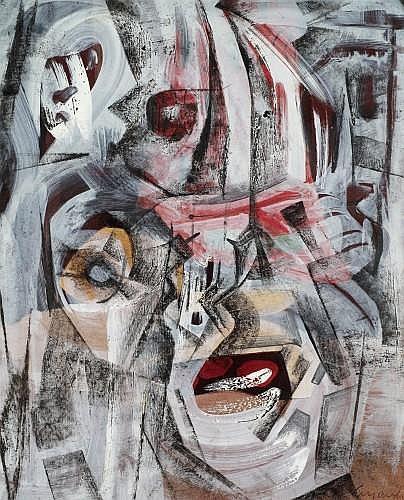 Jerzy KUJAWSKI (1921 - 1998) SANS TITRE, circa 1960 Crayon et gouache sur papier