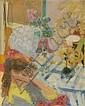 Raymond LEGUEULT (Paris, 1898 - Paris, 1971) LA SONGEUSE, 1952 Huile sur toile, Raymond Jean Legueult, Click for value
