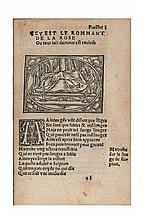 Guillaume de LORRIS  Le Rommant de la Rose nouvellement Reveu et corrige oultre les precedentes Impressions