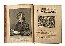 Gilles MÉNAGE  Aegidii Menagii Miscellanea