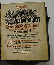 Hieronymus MENCEL  Christliche Leÿchpredigten Uber etliche Historien, Psalmen und Sprüche der heiligen Schrifft des alten und newen...