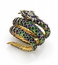 Bracelet serpent articulé