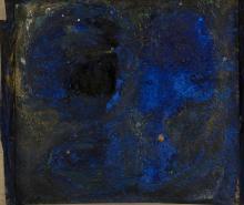 Ida KARSKAYA (1905-1990) Composition Technique mixte et collage sur panneau d'Isorel