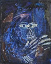 Ida KARSKAYA (1905-1990) Chapeau au vent n°2 Technique mixte,