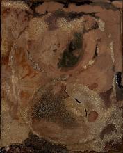 Jean PIAUBERT (1900 - 2002) Terres Promises, 1987 Technique mixte sur panneau de bois