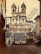 Attribué à James ANDERSON (1813-1877) La Trinité des Monts et les marches de la Place d'Espagne, Rome..., James Anderson, Click for value