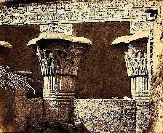 Félix TEYNARD (1817-1892) Construction ensablée- Architrave, Fûts et Châpitaux, Egypte T...