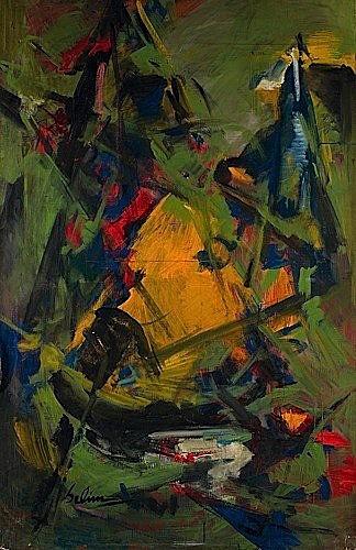 Turan SELIM (1915-1994) COMPOSITION Huile sur toile