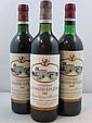 12 bouteilles  1 bt : CHÂTEAU CHASSE SPLEEN 1979 CB Moulis (légèrement bas, étiquette fanée) 3 bts : CHÂTEAU CHASSE SPLEEN 1982 CB...