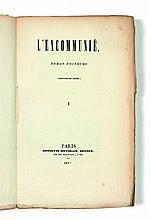 [Honoré de BALZAC]  L'Excommuniée. Œuvres complètes d'Horace de Saint-Aubin mises en ordre par Emile Regnault, tomes XV et XVI.