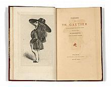 Théophile GAUTIER  Poésies qui ne figureront pas dans ses Œuvres précédées d'une autobiographie, ornées d'un portrait singulier
