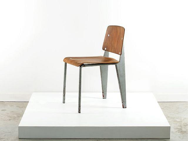 Jean prouve 1901 1984 prototype de chaise dite de bureau for Chaise jean prouve