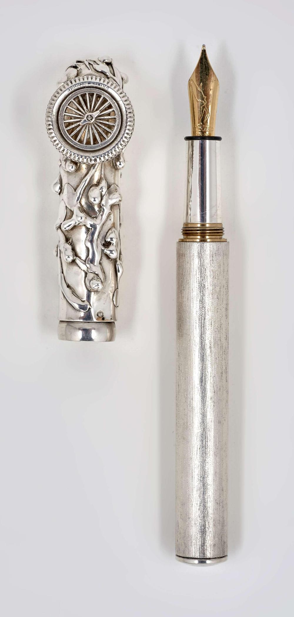 Michel Audiard Sculpteur Stylo michel audiard la bugatti stylo plume en bronze argenté bros