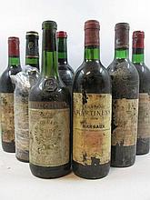 11 bouteilles 1 bt :  LACOSTE BORIE 1999 Pauillac (étiquette très abimée)