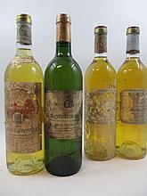 4 bouteilles 1 bt :  LES PLANTIERS DE HAUT BRION 1992 Pessac Léognan (étiquettes très abimées, déchirées)