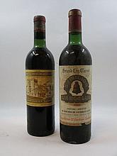 2 bouteilles 1 bt : CHÂTEAU ANGELUS 1966 1er GCC (B) Saint Emilion (légèrement bas, étiquette tachée)