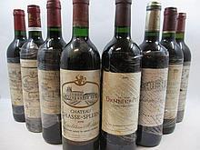 12 bouteilles 1 bt : CHÂTEAU CHASSE SPLEEN 2000 Moulis (étiquette très abimée)