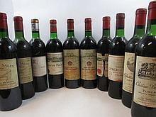 10 bouteilles 1 bt : CHÂTEAU DE SALES 1964 Pomerol (haute épaule, étiquette léger abimée)