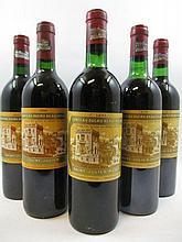 5 bouteilles 1 bt : CHÂTEAU DUCRU BEAUCAILLOU 1990 2è Saint Julien