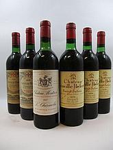 6 bouteilles 1 bt : CHÂTEAU GAZIN 1970 Pomerol (base goulot, étiquette sale)