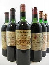 6 bouteilles 1 bt : CHÂTEAU HAUT BAILLY 1957 CC Pessac Léognan (haute épaule, étiquette abimée, tampon nicolas)