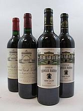 4 bouteilles 1 bt : CHÂTEAU LEOVILLE LAS CASES 1994 2è GC Saint Julien (étiquette fanée)