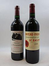 2 bouteilles 1 bt : CHÂTEAU L''EVANGILE 2003 Pomerol (verre rayé)