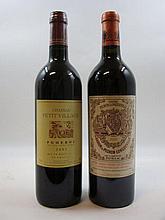 2 bouteilles 1 bt : CHÂTEAU PETIT VILLAGE 2001 Pomerol