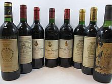 11 bouteilles 1 bt : CHÂTEAU TALBOT 1982 4è GC Saint Julien (haute épaule, étiquette très abimée, capsule abimée)