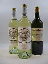 3 bouteilles 2 bts : CHÂTEAU CARBONNIEUX 2013 CC Pessac Léognan (blanc)