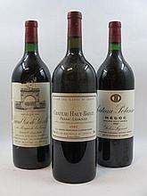 3 magnums 1 mag : CHÂTEAU LEOVILLE LAS CASES 1981 2è GC Saint Julien (étiquette tachée et déchirée)