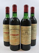4 bouteilles 2 bts : CHÂTEAU CANON LA GAFFELIERE 1970 1er GCC (B) Saint Emilion (haute épaule)
