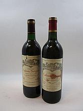 6 bouteilles 2 bts : CHÂTEAU CALON SEGUR 1991 3è GC Saint Estèphe (base goulot, étiquettes déchirées)