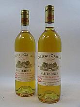 2 bouteilles CHÂTEAU CAILLOU 1986 2è cru Sauternes (dont 1 base goulot) (Cave 11)
