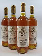12 bouteilles CHÂTEAU DE MALLE 1990 2è cru Sauternes Caisse bois d''origine  (Cave 11)