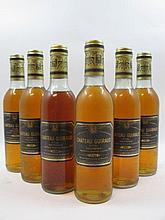 6 demi bouteilles CHÂTEAU GUIRAUD 1980 1er cru Sauternes (5 base goulot