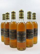 6 demi bouteilles CHÂTEAU GUIRAUD 1980 1er cru Sauternes (3 base goulot