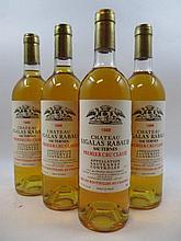 12 bouteilles CHÂTEAU SIGALAS RABAUD 1988 1er cru Sauternes (6 base goulot) Caisse bois d''origine (Cave 11)
