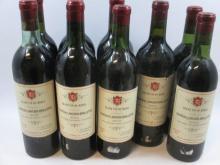 9 bouteilles 1 bt : CHÂTEAU LANCIEN-BRILLETTE 1952 Moulis (étiquette légèrement abimée)