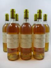 8 bouteilles CHÂTEAU CLIMENS 1981 1er cru Sauternes (2 base goulot