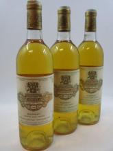 3 bouteilles CHÂTEAU COUTET 1986 1er cru Sauternes (légèrement bas