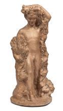 Jules Etienne Berchmans (1883-1951) Belgique, première moitié du XXe siècle Figure allégorique en terre cuite probablement représent...
