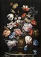 Attribué à Francesco Mantovano Venise, 1618-1682 Paire de bouquets de fleurs dans des vases à décor de grotesques Paire de toiles, Francesco Mantovano, Click for value