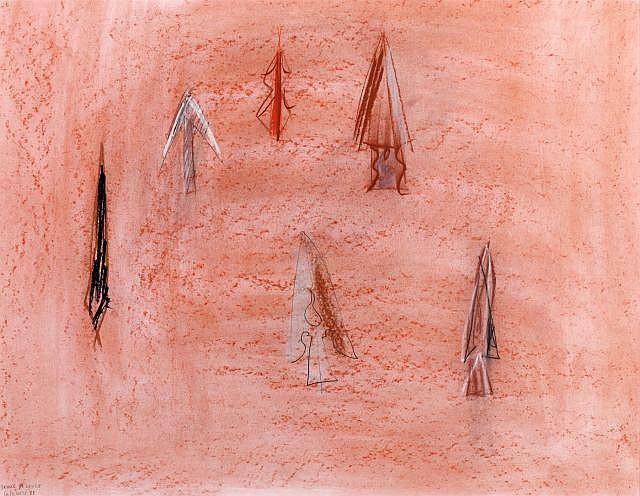 Daniel DEZEUZE (né en 1942) CALAMITE, 1988 Dessin aux pastels gras de couleurs, mine de plomb sur papier