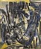 Herbert ZANGS (1924-2003) PEINTURES-SURFACE, circa 1958 Huile et fusain sur toile, Herbert Zangs, Click for value
