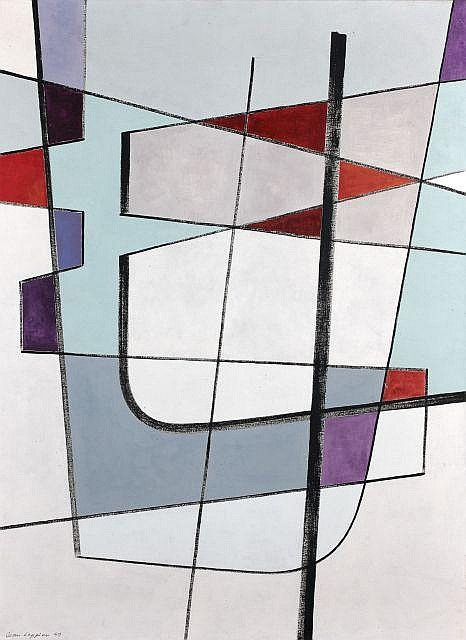 Jean LEPPIEN (1910 - 1991) LXVIII, 1949 Huile sur toile